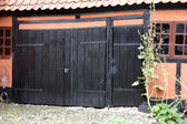 Gate in Half-timbered House — Stok fotoğraf