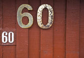 House Number Sixty — Stock Photo