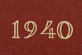 El año 1940 — Foto de Stock