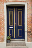 Puerta doble azul — Foto de Stock