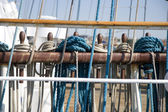 Ropes on Sailing Ship — Stock Photo