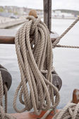 Ropes on Tall Ship — Stock Photo