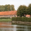 Stock Photo: The Moat at Sostrup Castle