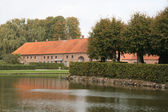 The Moat at Sostrup Castle — Stock Photo