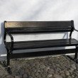 Black Bench — Stock Photo
