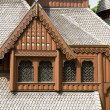 Stock Photo: Windows in Stave Church