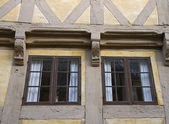 Window in Half-timbered House — Stock Photo