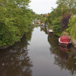 Stock Photo: Dinghies in Canal