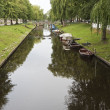 Small Boats in the Canal — Stock Photo