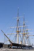 Tall Ship in Dry Dock — 图库照片