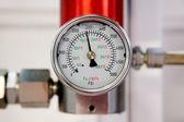 Industrial pressure meter — Stock Photo