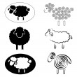 Sheeps - Stock Vector