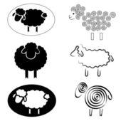 Sheeps — Stock Vector