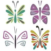 Mariposas — Vector de stock