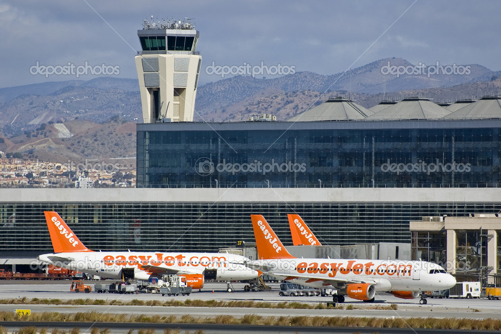 Lowcost airline at Malaga Airport — Stock Photo #9593639