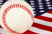 Baseball, stars and stripes, the game americans play — Stock Photo
