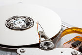 Side view of chrome hard drive — Stock Photo