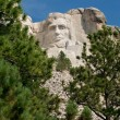 Abraham lincoln at mt rushmore — Stock Photo