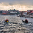 Panorama of Duoro River, Porto - Stock Photo