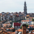 Panorame of Worn out houses, Porto, Portugal - Stock Photo