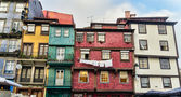 Worn out houses, Porto, Portugal — Stock Photo
