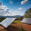 Stock Photo: Solar power panels in rural countryside