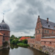 Panoramof Frederiksborg castle in Hillerod, Denmark — Stock Photo #8642299