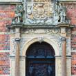 Door from Frederiksborg castle in Hillerod, Denmark — Stock Photo