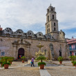 Old Havana with a view of fuentes los Leones Church — Stock Photo