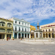 Panorama of Old Havana plaza Vieja, Cuba — Stock Photo #8643130