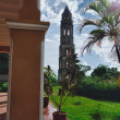 Valley de los ingenios view of the tower in trinidad, cuba — Stock Photo