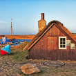 Tradtional fishing hut, Nymindegab, Denmark — Stock Photo #8645176