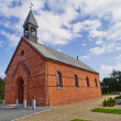 Stock Photo: Minimalistic Danish church in Oksby