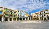 Panorama of Old Havana plaza Vieja, Cuba — Stock Photo