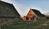 Traditional old Viking Age house hut in Bork village, Denmark — Stock Photo