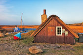 Tradtional fishing hut, Nymindegab, Denmark — Stock Photo