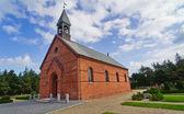 Minimalist danimarka kilise oksby — Stok fotoğraf