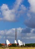 Satellite station on the Danish westcoast — Stock Photo