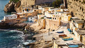 Fishermens huts in Valletta, Malta — Stock Photo