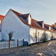 Street with old houses from royal town Ribe in Denmark — Stock fotografie
