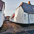 Street with old houses from royal town Ribe in Denmark — Foto de Stock