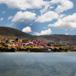 Panoramic view of Passignano at Lake Trasimeno, Umbria, Italy — Stock Photo