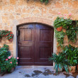 Doors detail from the medieval town Pienza in italy — Stock Photo