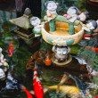 Koi carps at Golden Mount Temple (Wat Sakate), Bangkok, Thailand - ストック写真