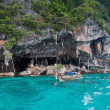 Viking Cave on PhiPhi Leh island, Thailand - Stock Photo