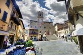 Main square, Cortona, Tuscany — Stock Photo