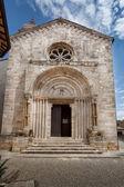 La iglesia collegiata di san quirico d ' orcia, toscana. — Foto de Stock