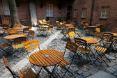 Lots of chairs in a cafe — Stock Photo