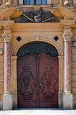 Antique door, Wroclaw, Poland — Stock Photo