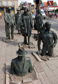 Anonymous pedestrian statue, Wroclaw, Poland pt.2 — Stock Photo